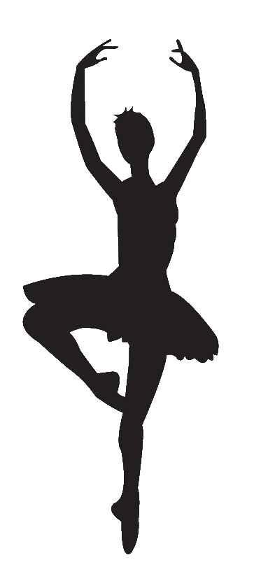 Silhouette panda images . Free clipart ballet dancer