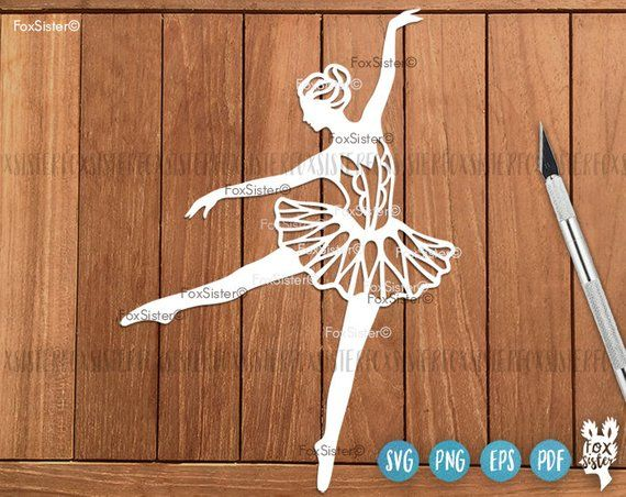Ballerina clipart svg picture free Ballerina Svg, Ballet Svg Cut File, 3 Papercut Templates Set 3 ... picture free