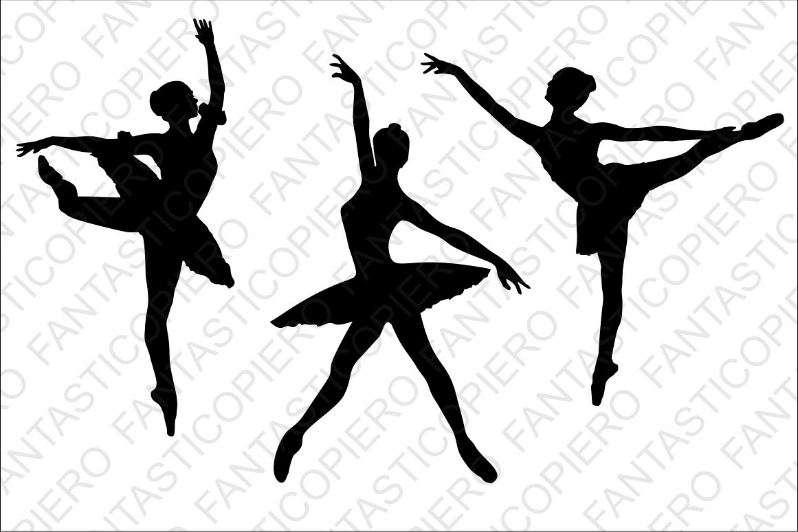 Ballerina clipart svg graphic free library Classic and modern dancers SVG files for Silhouette Cameo and Cricut.  Ballerina clipart PNG included graphic free library