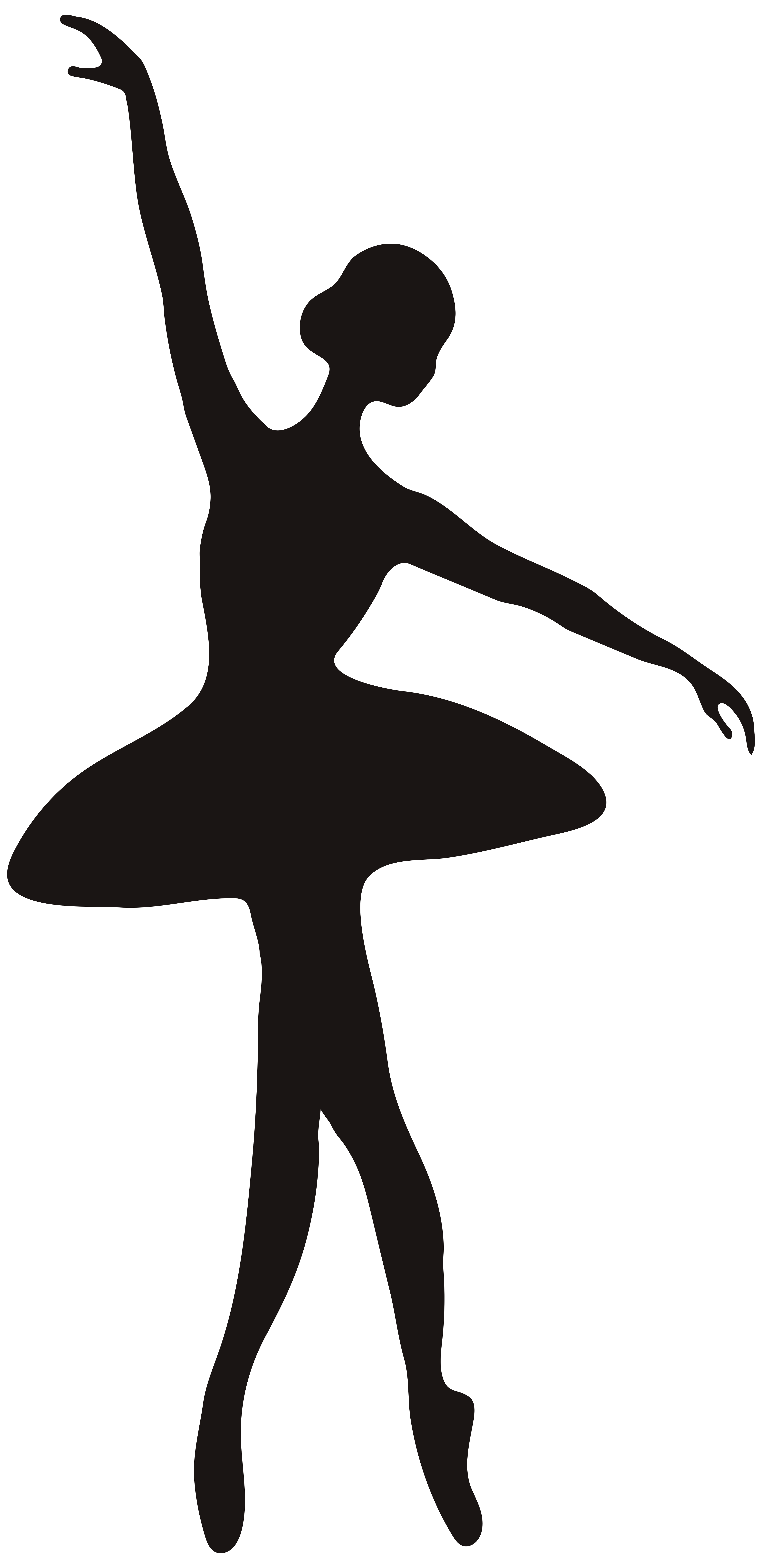 Ballet silhouette clipart vector black and white download Ballerina Silhouette PNG Clip Art Image | Gallery Yopriceville ... vector black and white download