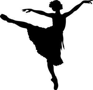 Ballerina jumping clipart vector royalty free Ballerina Clipart Image: A silhouetted ballerina stretching her arms ... vector royalty free