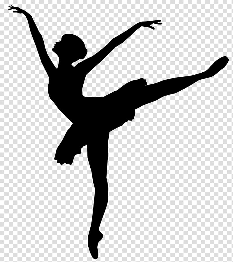 Ballerina jumping clipart png freeuse Ballet Dancer Silhouette, ballerina black transparent background PNG ... png freeuse