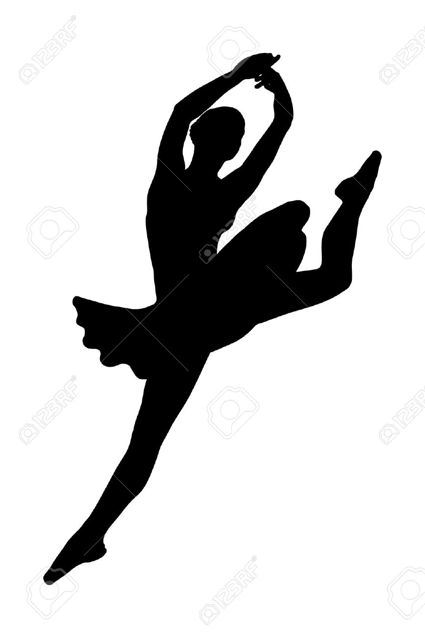 Ballerina jumping clipart clip royalty free stock Dance Leap Silhouette | Free download best Dance Leap Silhouette on ... clip royalty free stock