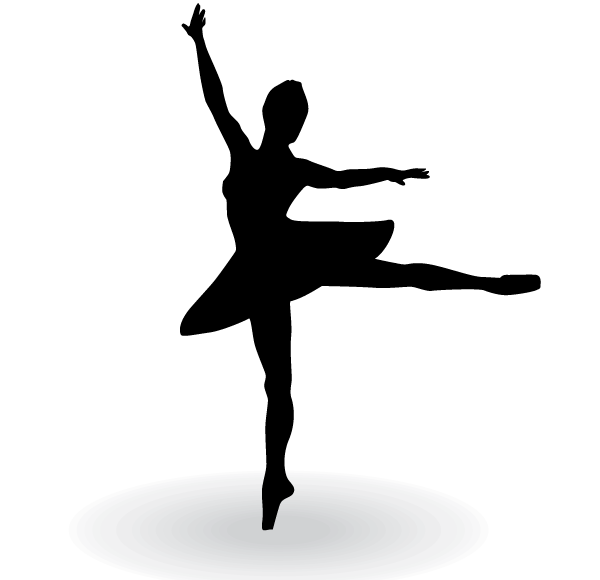 Ballerina silhouette commercial clipart png free library Ballerina Silhouette Vector Clip Art png free library