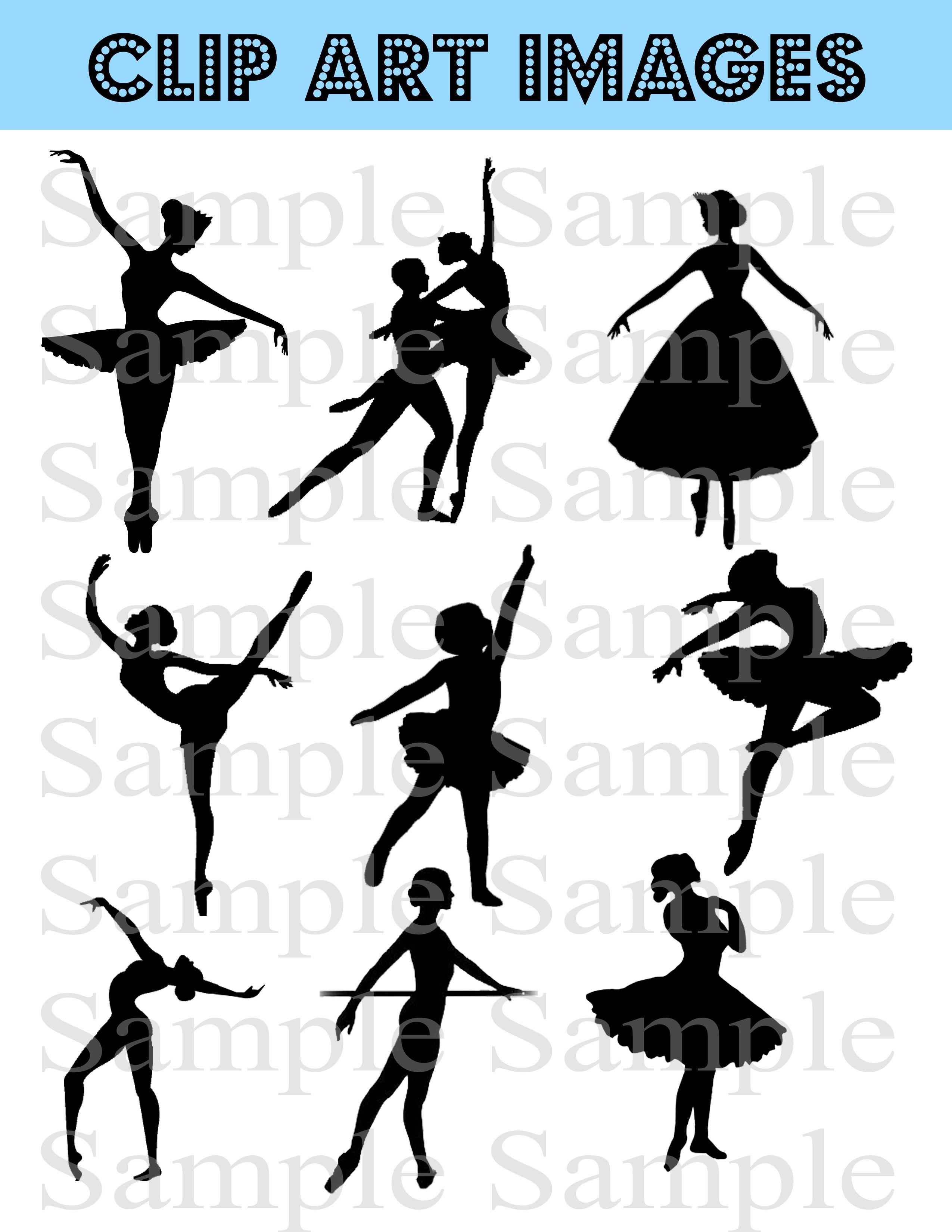 Ballerina silhouette commercial clipart jpg royalty free stock BALLERINA Digital Clipart , Silhouette, Clipart Ballerina, Ballerina,  Personal And Commercial Use jpg royalty free stock