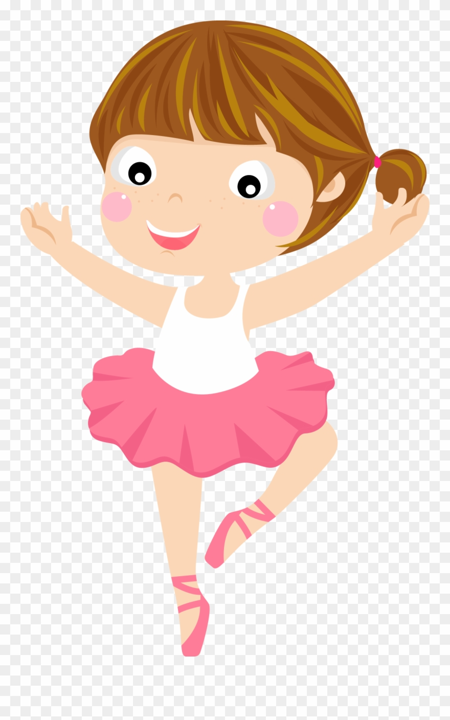 Ballerina with brown hair clipart picture download Ballet Cartoon Dancer Clipart (#2655145) - PinClipart picture download