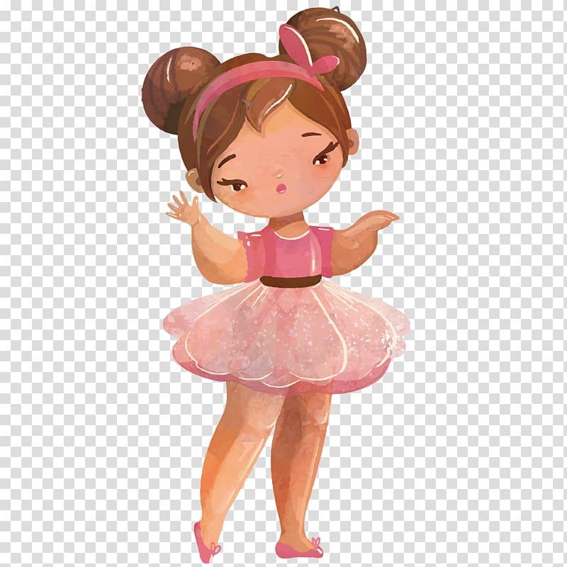 Ballerina with brown hair clipart clip art free library Paper Ballet Dancer, Dancing princess transparent background PNG ... clip art free library