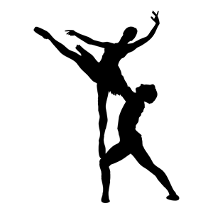 Ballet boy clipart picture download Woman And Man Ballet Silhouette clipart, cliparts of Woman And Man ... picture download