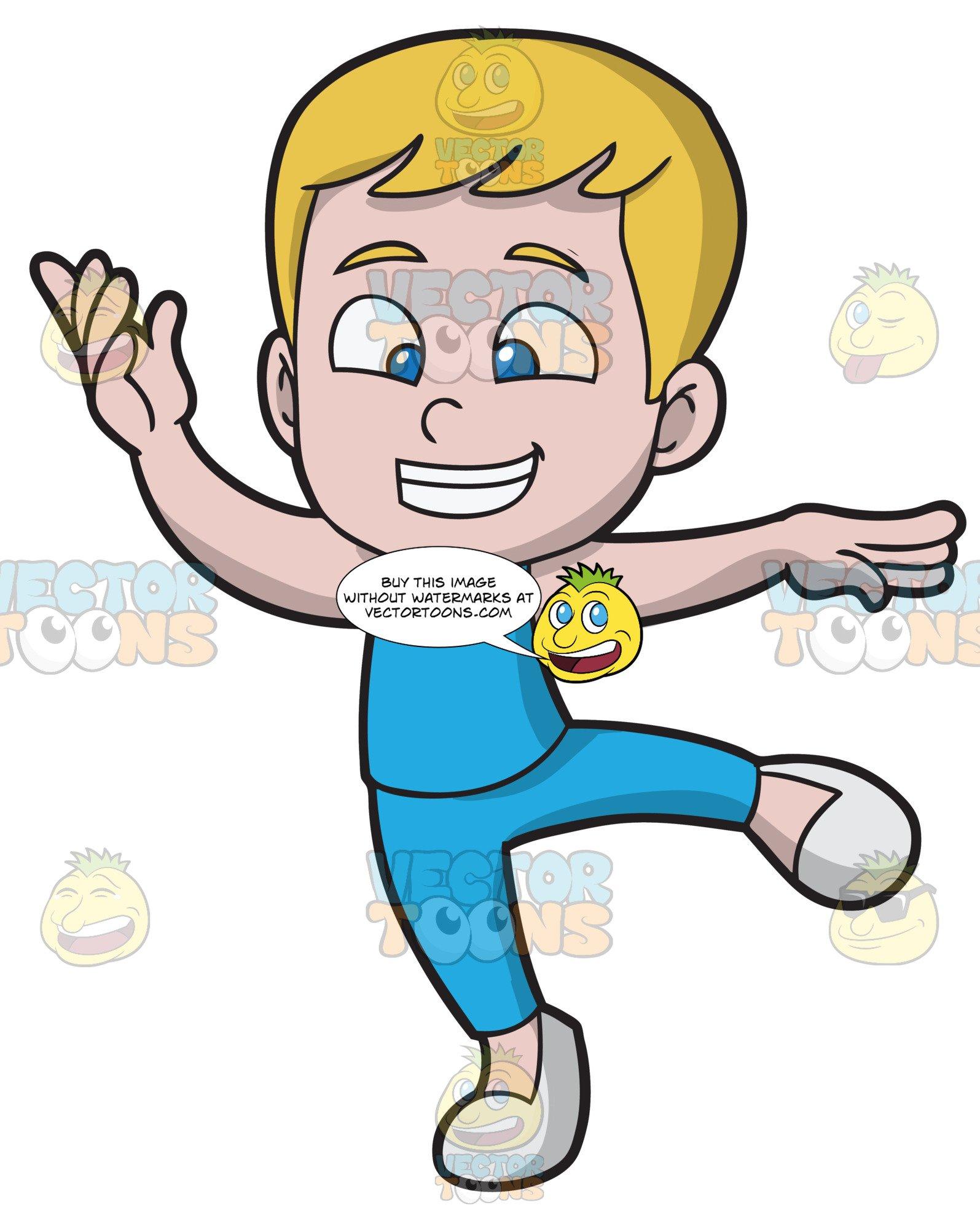 Ballet boy clipart vector royalty free library A Happy Boy Dancing Ballet vector royalty free library