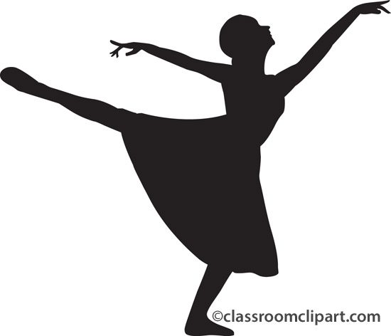 Tiny dancer silouhette clipart