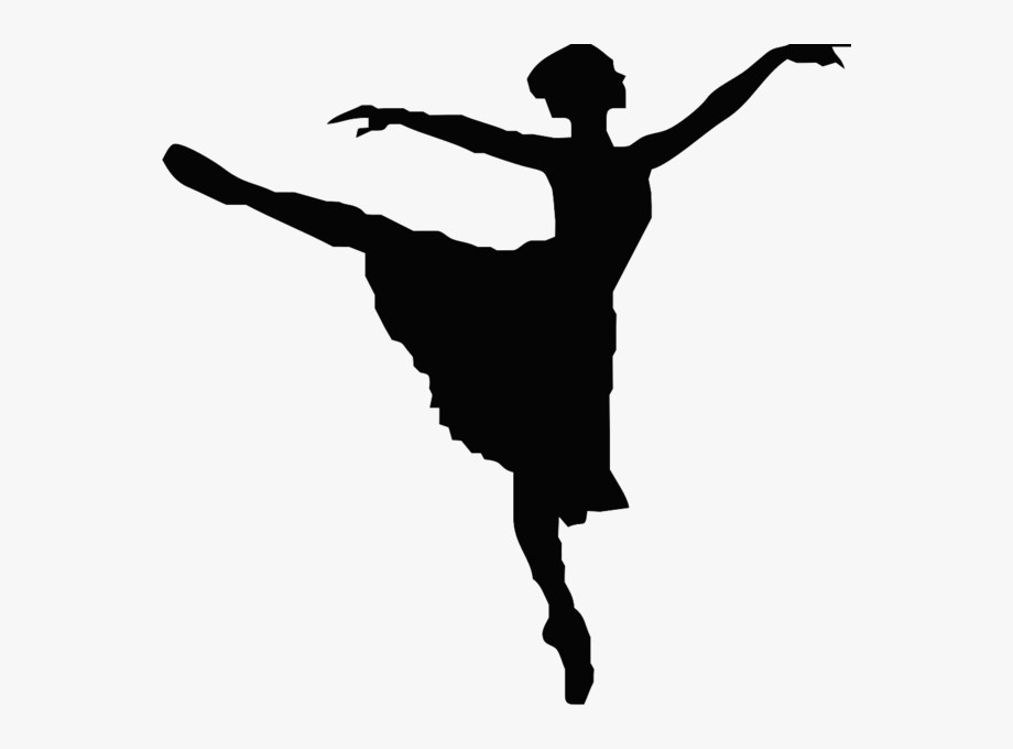 Dance clipart black and white