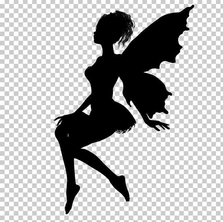 Pixie silhouette clipart black and white download Fairy Silhouette Drawing Pixie PNG, Clipart, Ballet Dancer, Black ... black and white download
