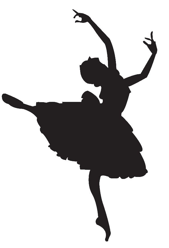 Ballet worker clipart black and white