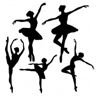 Ballet silhouette clipart free image transparent Ballet Vectors, Photos and PSD files   Free Download image transparent