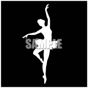 Black and White Ballerina - Royalty Free Clipart Picture svg royalty free library