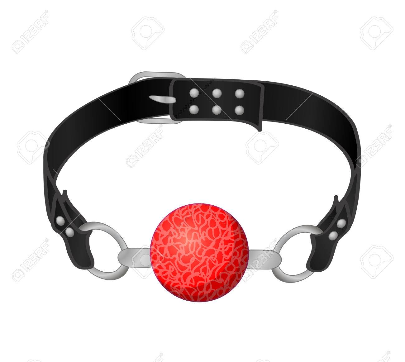 Red Silicone Ball Gag with a leather belt » Clipart Station jpg transparent stock