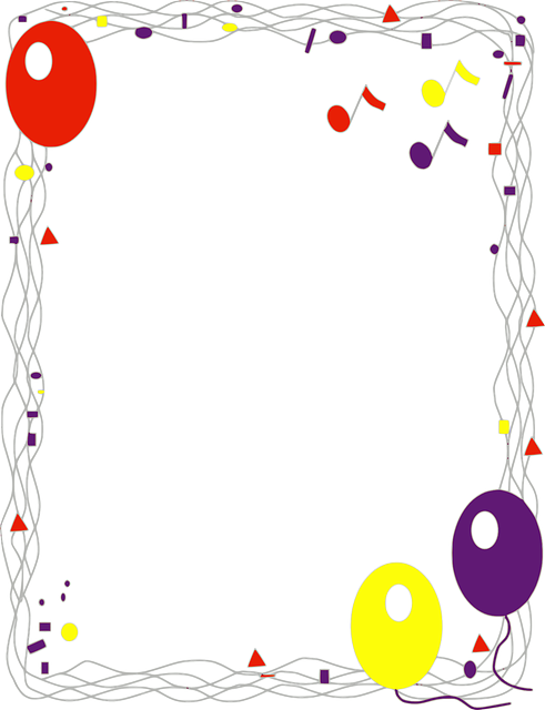 Balloon birthday border clipart black and white high res banner stock Free Image on Pixabay - Background, Border, Decorations ... banner stock