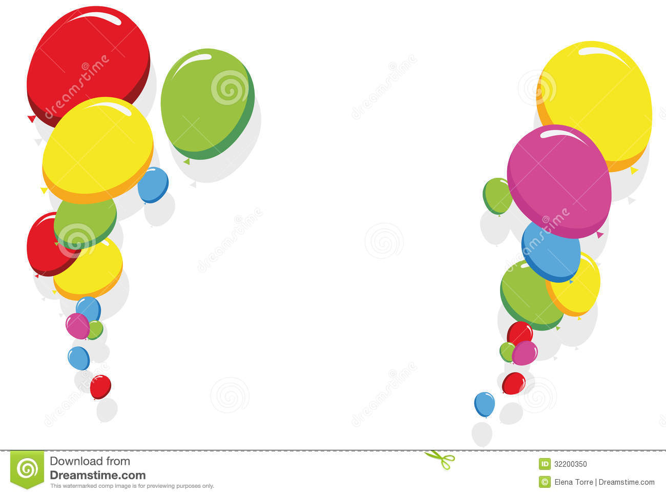 Balloon birthday border clipart black and white high res picture transparent library Balloon Border Clipart | Free download best Balloon Border Clipart ... picture transparent library