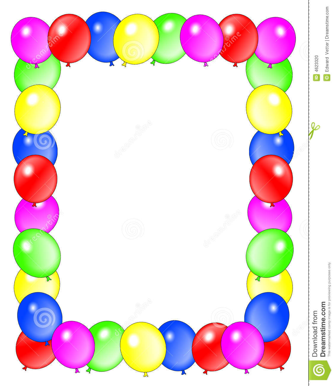 Free 50th birthday clipart borders
