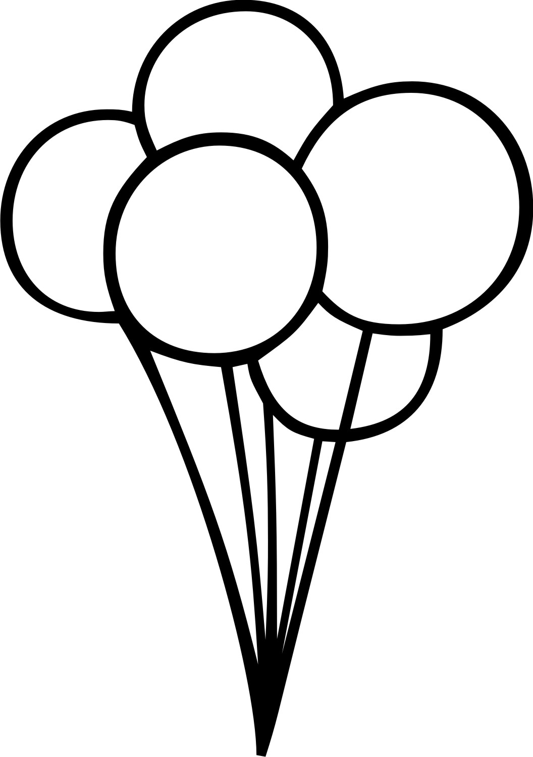 Balloon drawing clipart jpg black and white download Free Balloon Outline, Download Free Clip Art, Free Clip Art on ... jpg black and white download