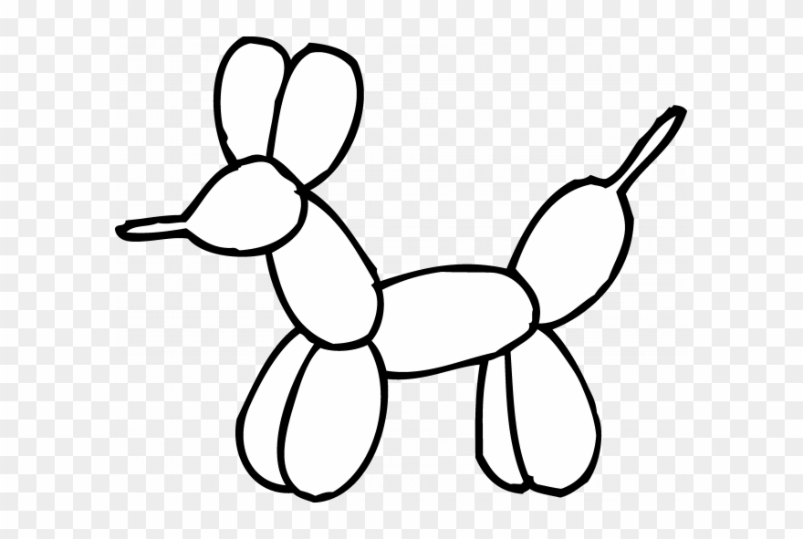 Balloon clipart coloring book png transparent library Coloring Books And Pages - Balloon Animal Clipart Black And White ... png transparent library