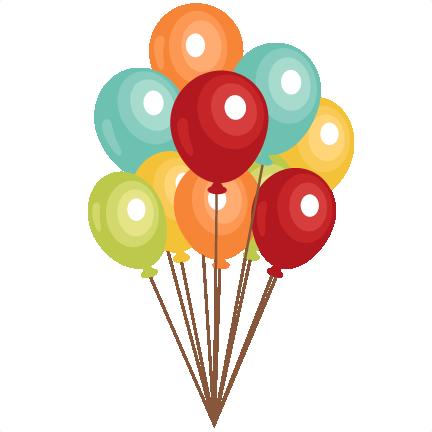 Balloon clipart file clip art royalty free download Birthday Balloons clip art SVG scrapbook cut file cute clipart files ... clip art royalty free download