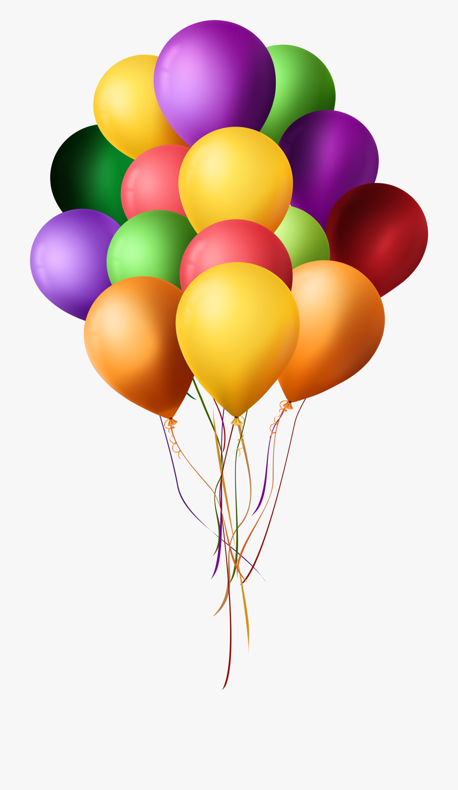 Bunch Of Balloons - Png Format Balloon Png Hd #737308 - Free ... vector royalty free library