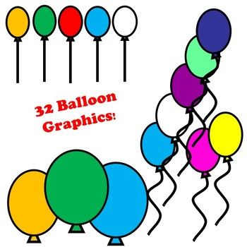 Balloon Clip art Images - Professional and Personal Use Okay ... graphic free download
