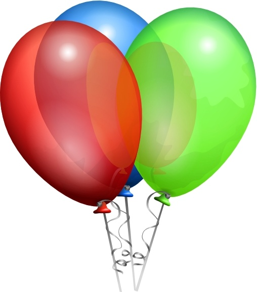 Party Helium Balloons clip art Free vector in Open office drawing ... banner library stock