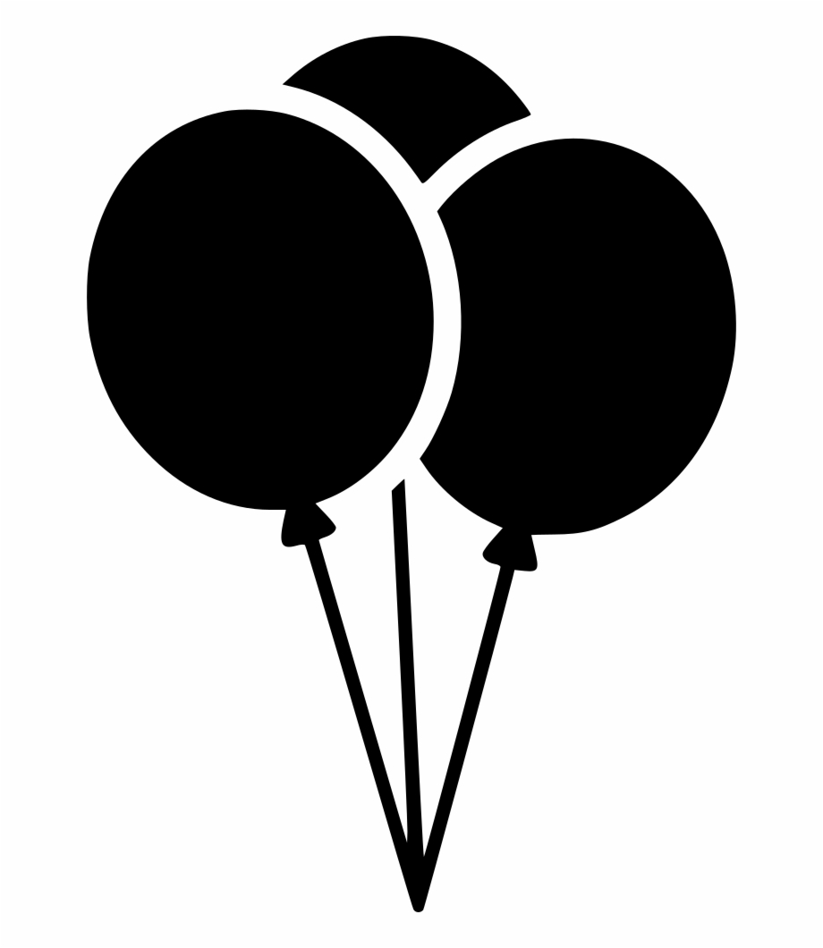 Balloon clipart icon svg library download Balloons Comments - Clipart Balloons Black And White Free PNG Images ... svg library download