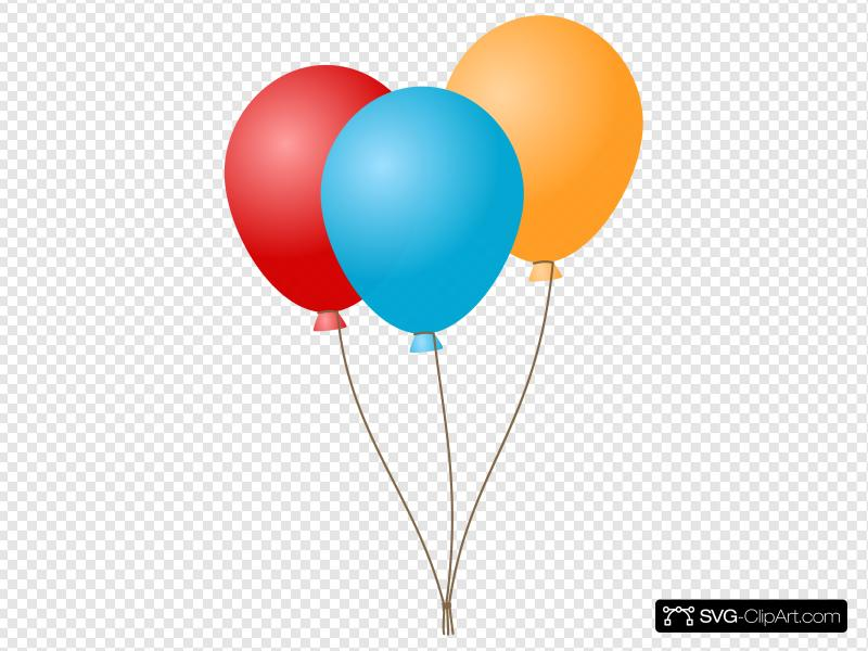 Balloon clipart icon clip black and white Balloons Clip art, Icon and SVG - SVG Clipart clip black and white