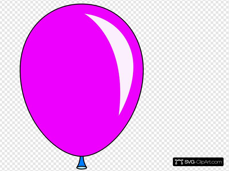 Balloon clipart svg clip download New Pink Balloon Clip art, Icon and SVG - SVG Clipart clip download