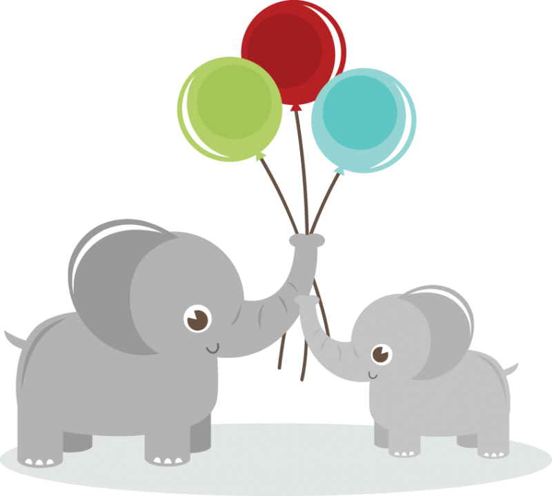 Mack dog clipart graphic library library Elephants Holding Balloons SVG elephant clipart cute clip art cute ... graphic library library