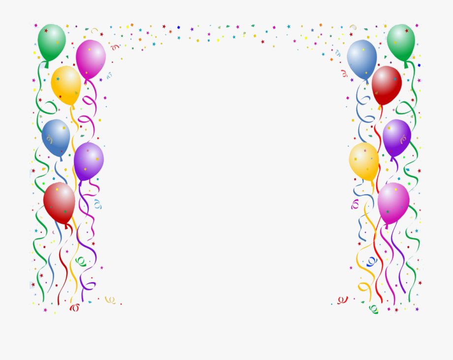 Free balloon clipart border svg transparent stock Balloon Clip Art Border - Buon 1 Compleanno Frasi #103864 - Free ... svg transparent stock