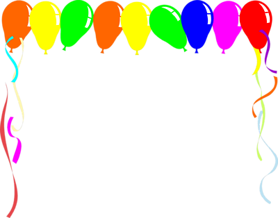 Birthday party boarders clipart png stock Free Balloon Border, Download Free Clip Art, Free Clip Art on ... png stock