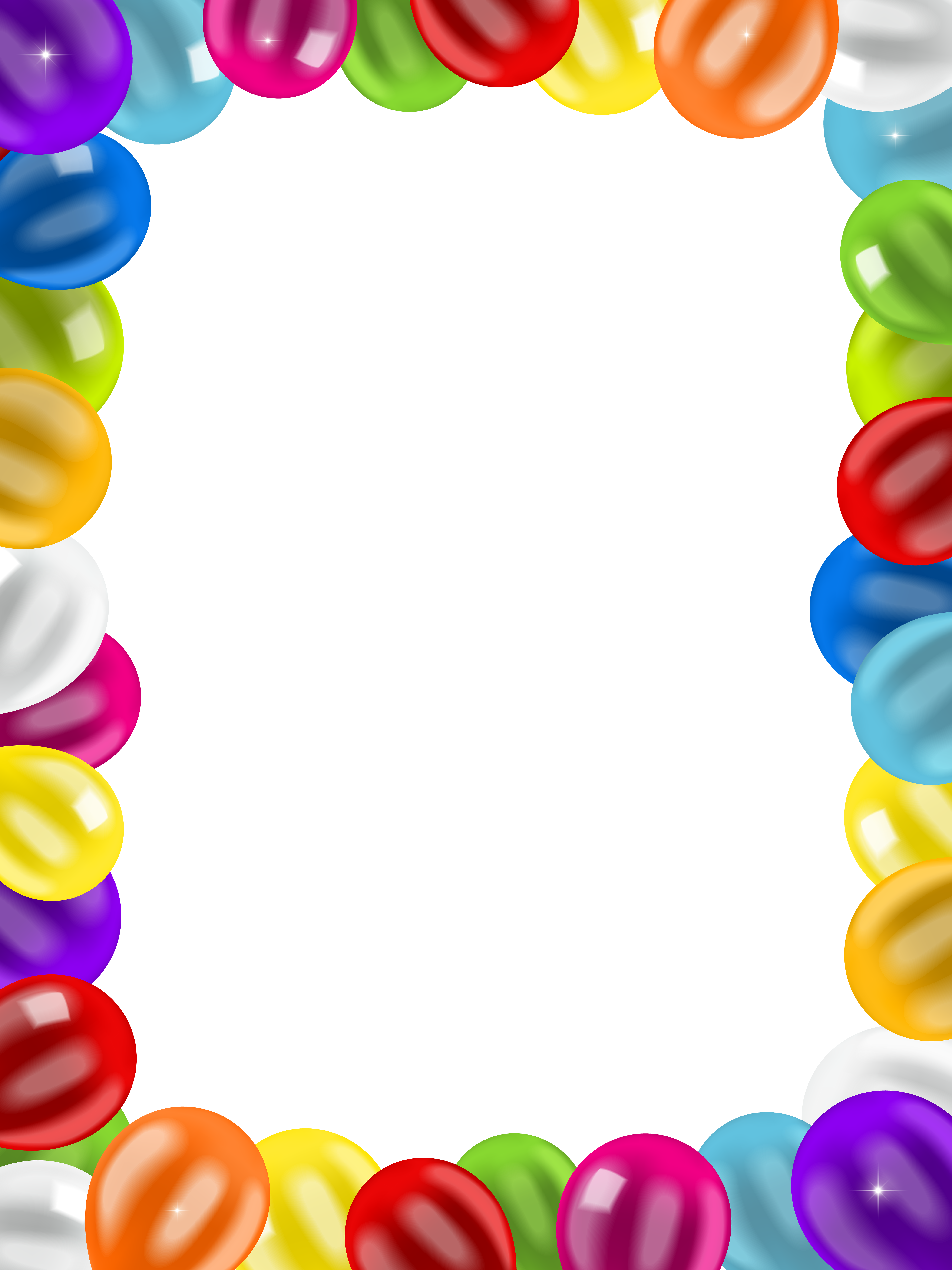 Balloon frames clipart graphic Balloons Border Frame PNG Clip Art Image | Gallery Yopriceville ... graphic