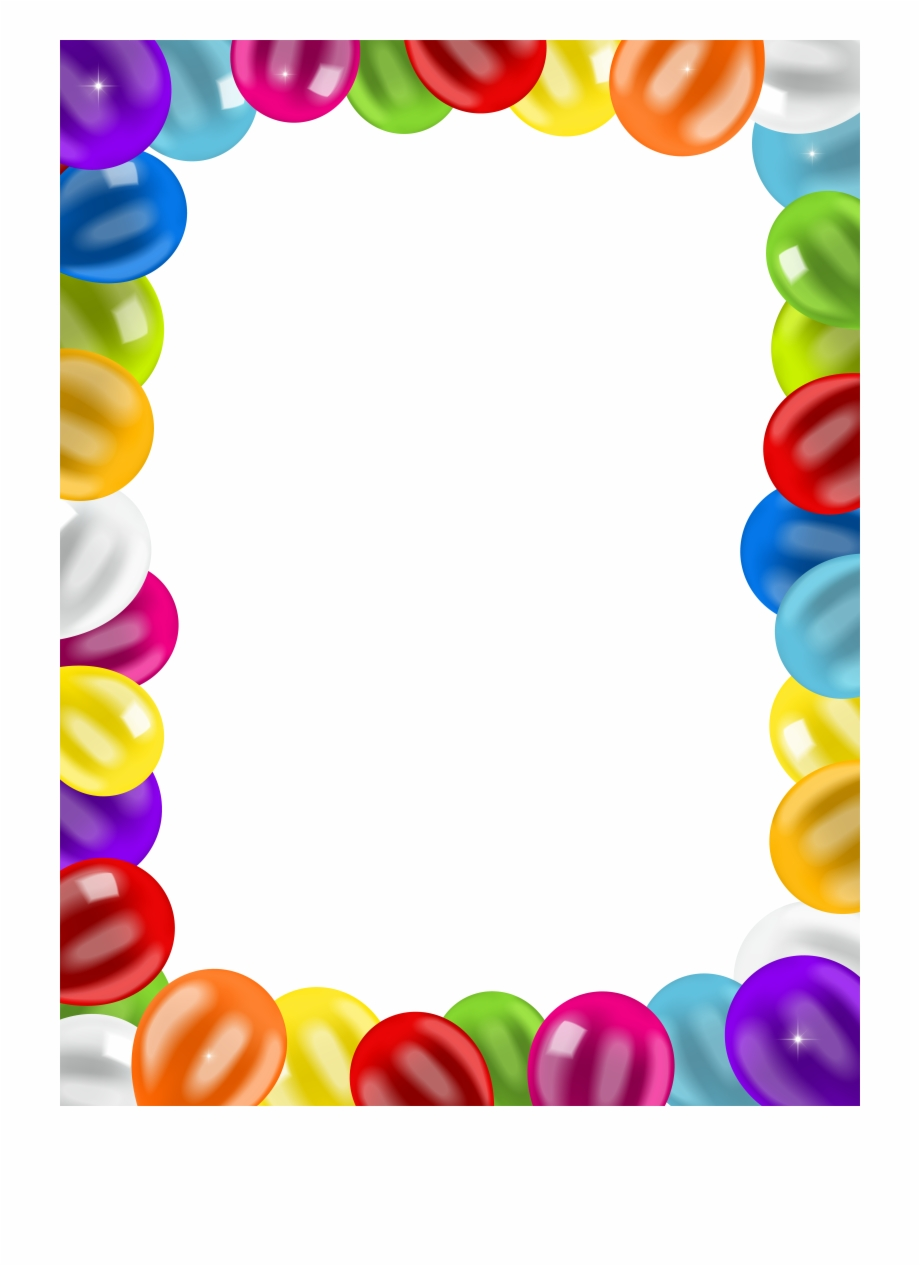 Balloon frames clipart picture transparent stock Birthday Clip Art Balloons Border Png Image - Transparent Balloon ... picture transparent stock