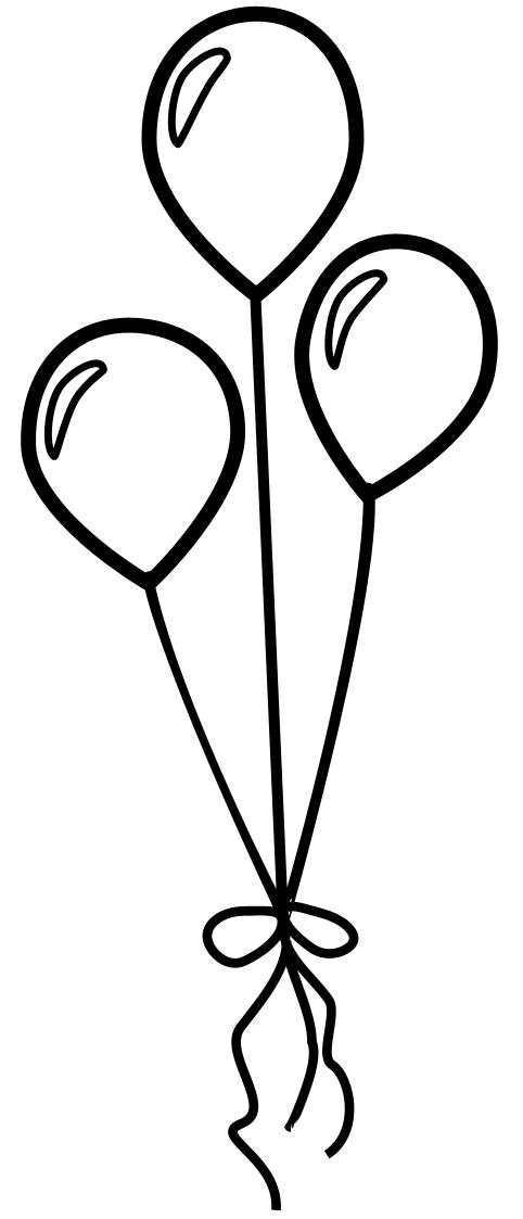 Balloon shapes clipart freeuse stock Free Balloon Outline, Download Free Clip Art, Free Clip Art on ... freeuse stock
