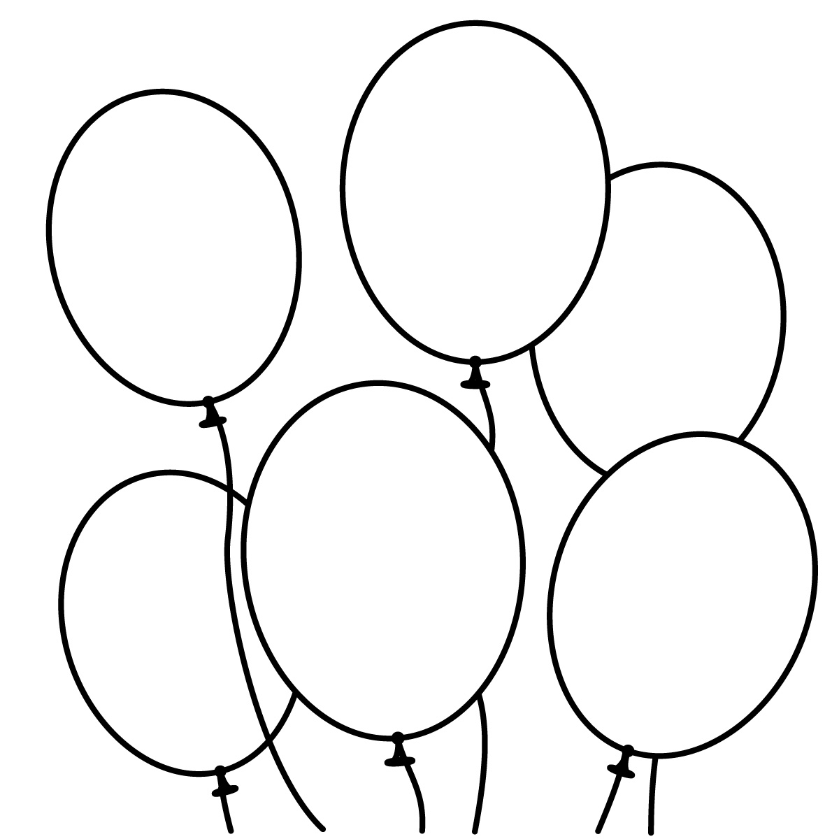 Balloon shapes clipart clip Free Balloon Outline, Download Free Clip Art, Free Clip Art on ... clip
