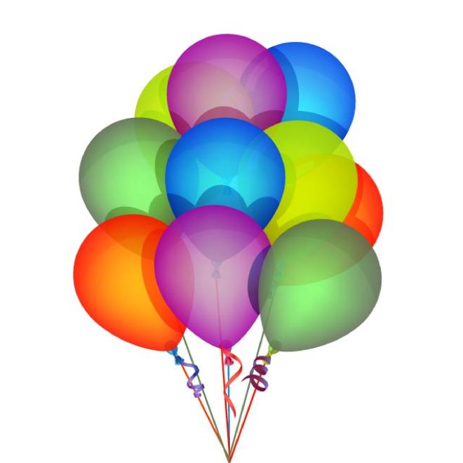 Balloon vector clipart free png transparent stock BIRTHDAY BALLOONS VECTOR - Free vector image in AI and EPS format. png transparent stock