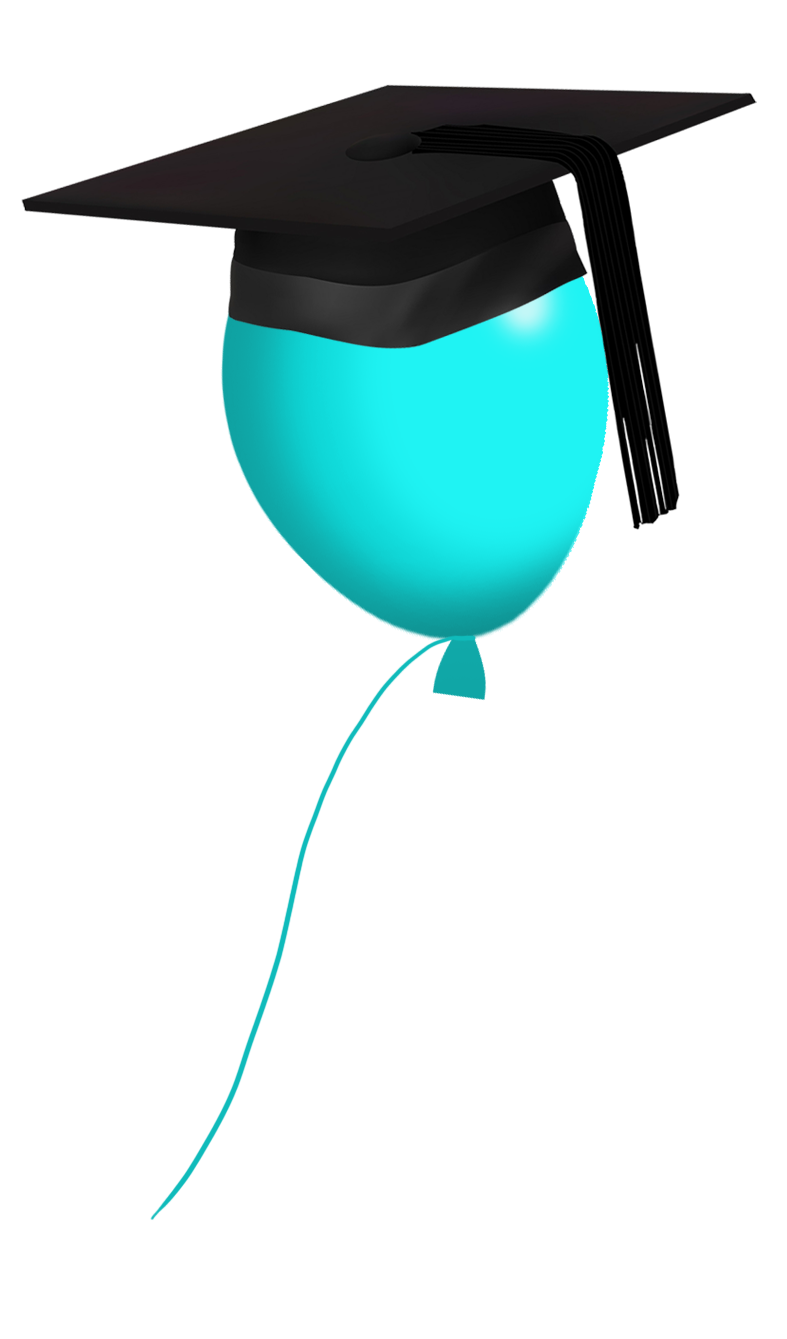 Balloon with grad hat clipart banner free library Graduation Clipart - Free Graduation Graphics banner free library