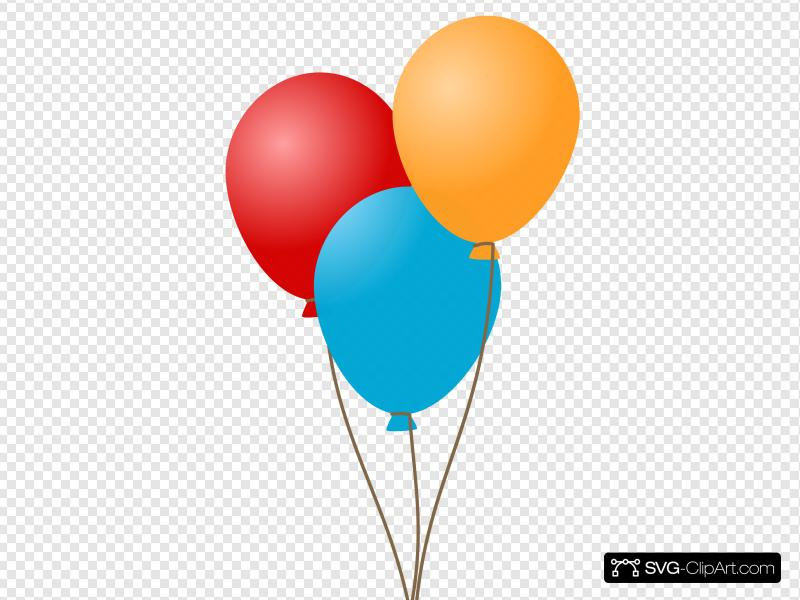 Three Balloons Clip art, Icon and SVG - SVG Clipart vector library stock