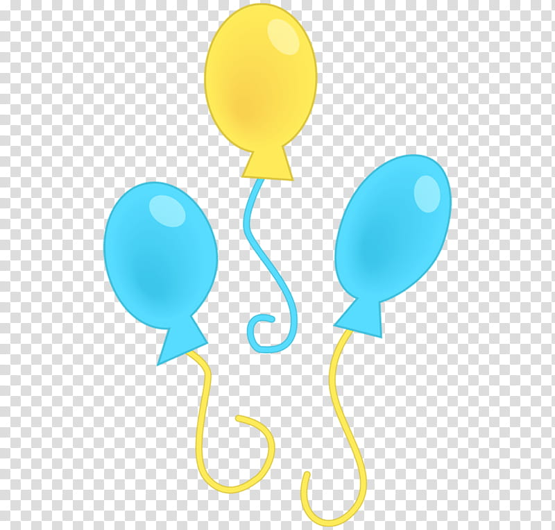 Cutiemarks , three yellow and blue balloons transparent background ... free