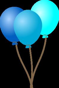 Balloons clipart blue three clipart library Emmas Blue Balloons Clip Art at Clker.com - vector clip art online ... clipart library