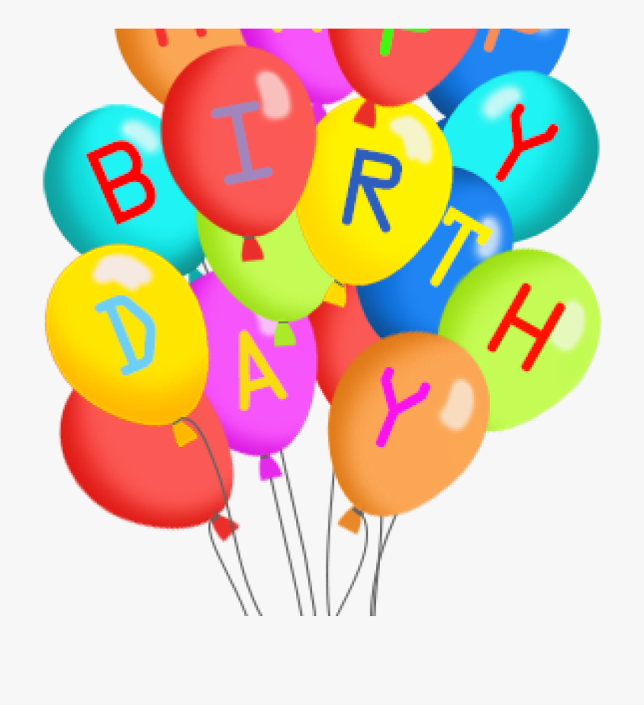 Happy birthday balloons clipart svg library download Balloons Clipart Png - Transparent Background Happy Birthday Clipart ... svg library download