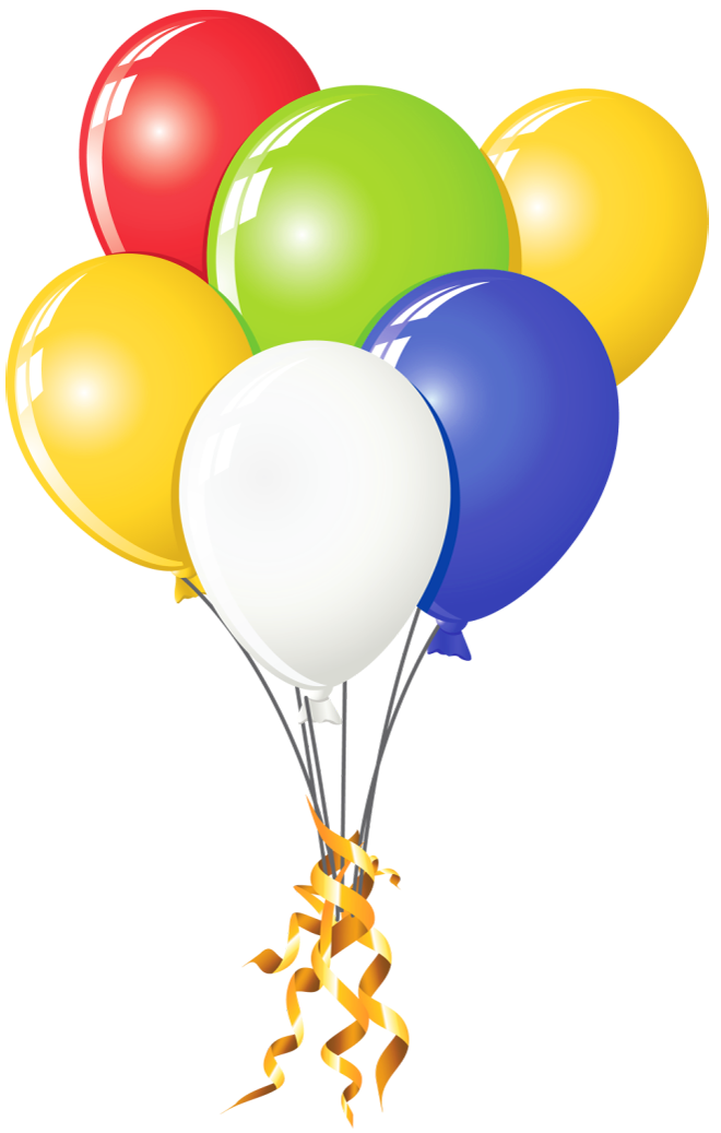 Balloons clipart transparent jpg free stock Transparent Balloons Multi Color Clipart | Gallery Yopriceville ... jpg free stock
