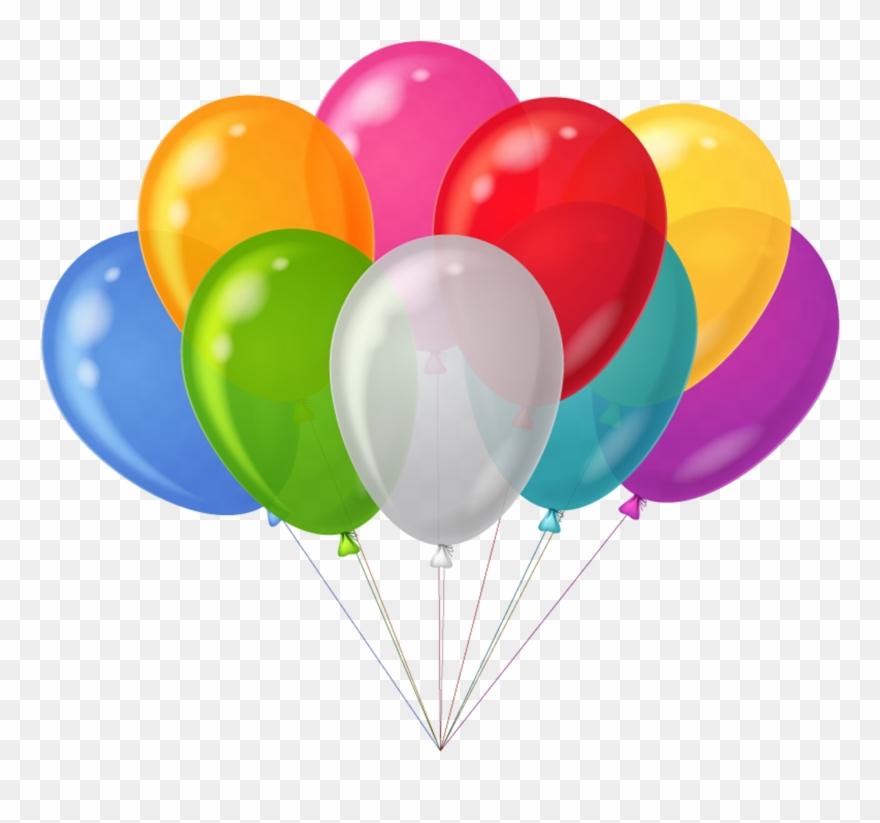 Balloons clipart transparent banner royalty free Ballons - Clip - Art - Balloon Clipart Transparent - Png Download ... banner royalty free