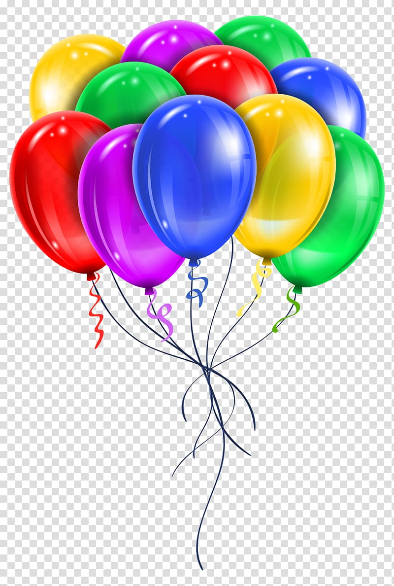 Balloons clipart transparent clip royalty free download Balloon , Multi Color Balloons , assorted-color balloon lot ... clip royalty free download