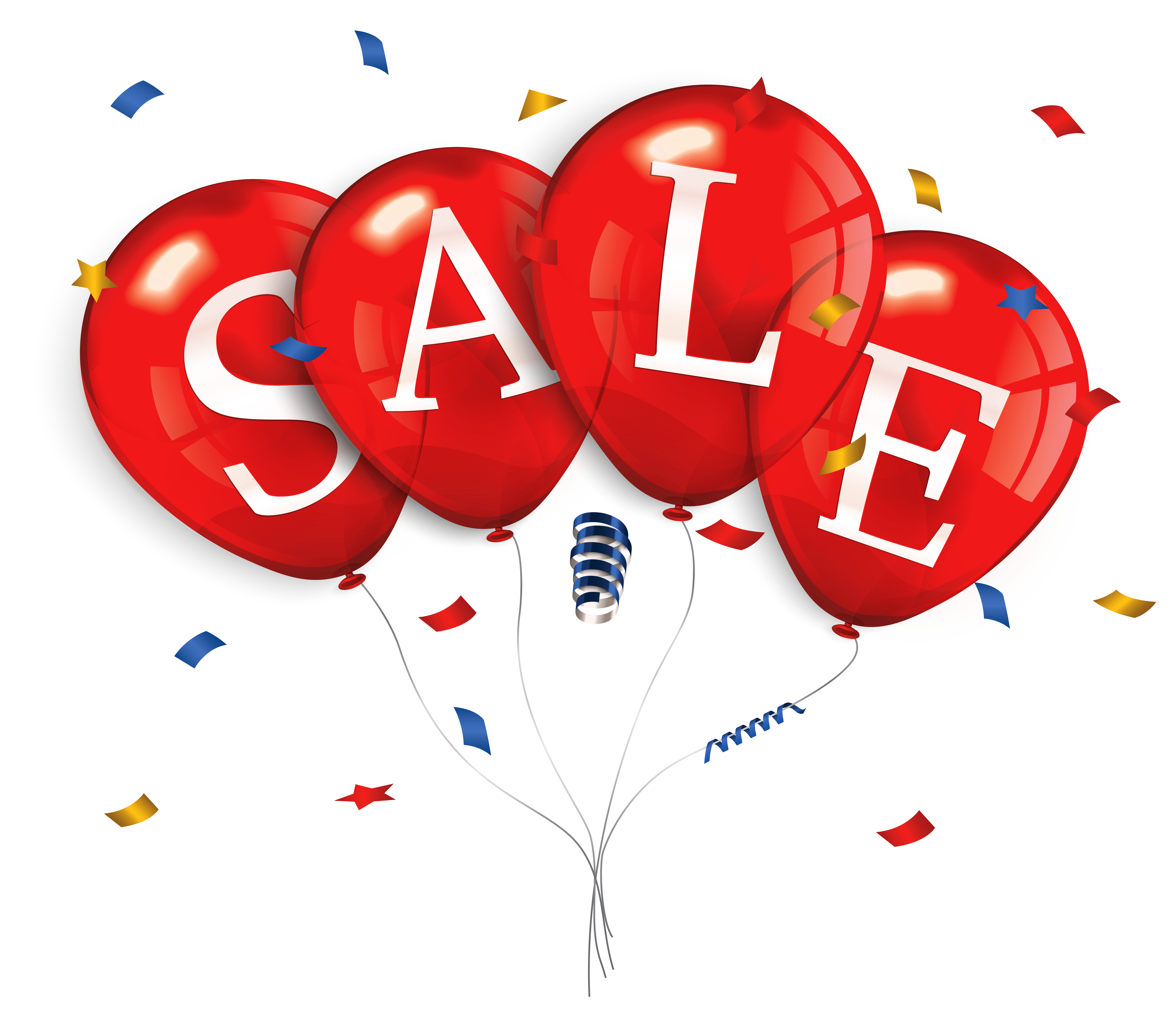 Balloons for sale clipart vector stock Sale Balloons PNG Clipart Image | Gallery Yopriceville - High ... vector stock