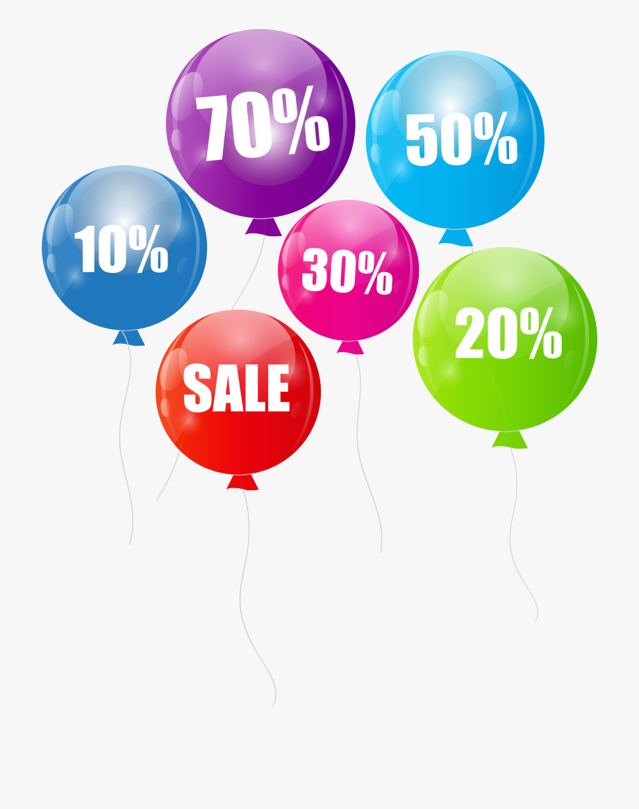 Balloons for sale clipart vector transparent library Latest X Discount Sale Balloons Transparent Png Clip - Sale Discount ... vector transparent library